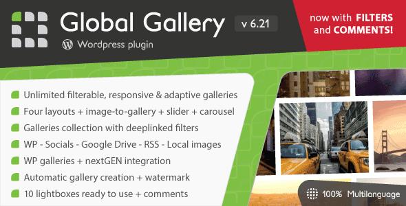 Global Gallery v6.21 – WordPress Responsive Gallery