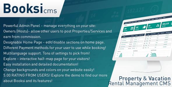 Booksi v1.3 - Property & Vacation Rental Management CMS