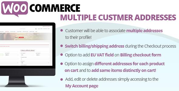 WooCommerce Multiple Customer Addresses v16.8