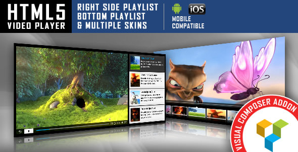 HTML5 Video Player v1.2.5.2 - Visual Composer Addon