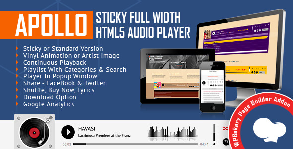 Apollo v1.3.0.1 - Audio Player for WPBakery Page Builder