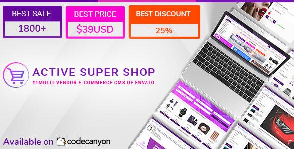 Active Super Shop Multi-vendor CMS v1.5.1 – nulled