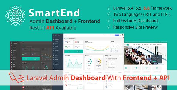 SmartEnd v5.0 - Laravel Admin Dashboard with Frontend and Restful API