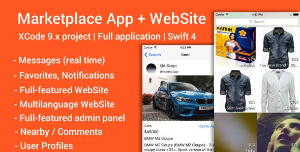 Marketplace (iOS App and Website) v1.2 - Swift 4