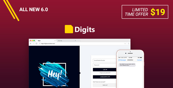 Digits v6.1.1 – WordPress Mobile Number Signup and Login