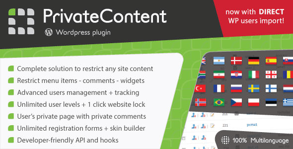 PrivateContent v7.1.1 - Multilevel Content Plugin