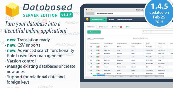 Database Application Platform v1.4.5