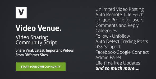Video Venue – Community Script