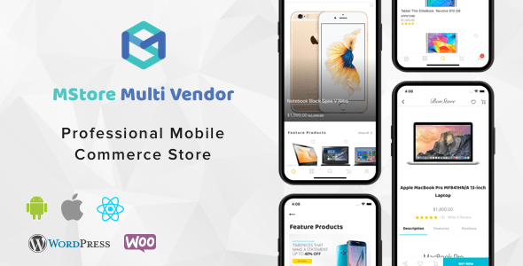 MStore Multi Vendor v1.0.1 - Complete React Native template for WooCommerce