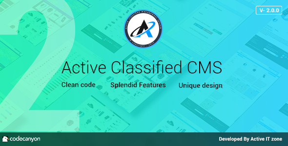 Active Classified CMS v2.0.0 - nulled