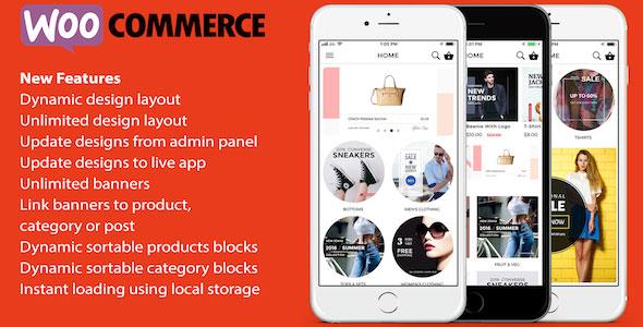 ionic 3 App for WooCommerce v4.5