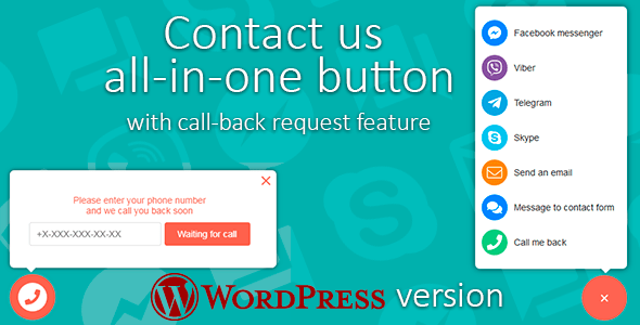Contact us v1.3.2 – All-in-one button with callback request