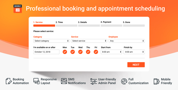 Bookly PRO v16.4 – Appointment Booking and Scheduling Software System