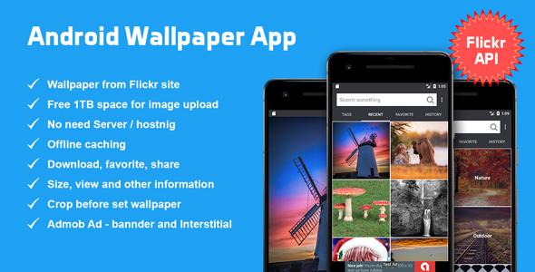 Android Wallpaper App based on Flickr API