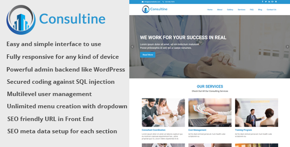 Consultine v1.7 - Consulting, Business and Finance Website CMS