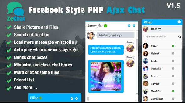 Zechat v1.5 - Facebook Style Php Ajax Chat