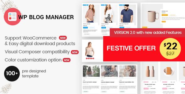 WP Blog Manager v2.0.1 – Plugin to Manage Design Blog