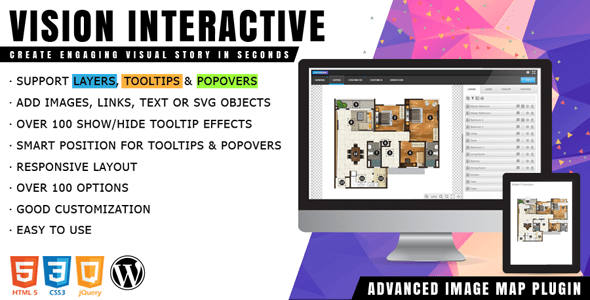 Vision Interactive v1.0 – Image Map Builder for WordPress