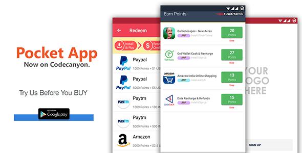 POCKET v3.0 – Android Rewards App