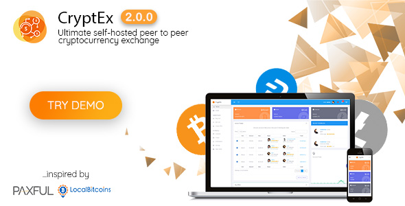CryptEx – Ultimate peer to peer CryptoCurrency Exchange platform (with self-hosted wallets)