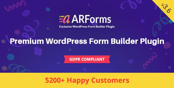 ARForms v3.6 – WordPress Form Builder Plugin