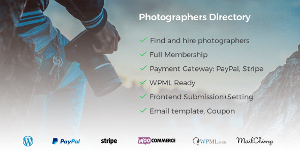 Photographer Directory v1.0.5 - WordPress Plugin