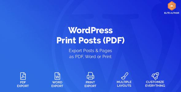 WordPress Print Posts & Pages (PDF) v1.1.6