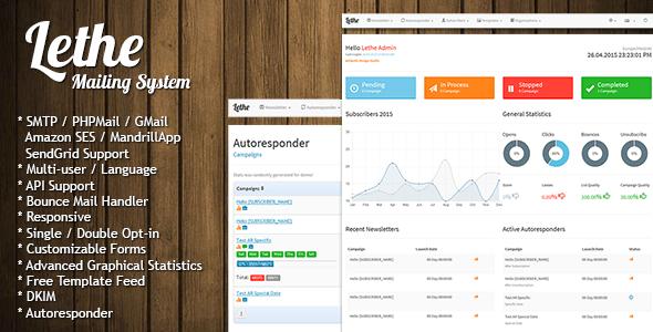 Lethe v2.2 - PHP Newsletter & Mailing System