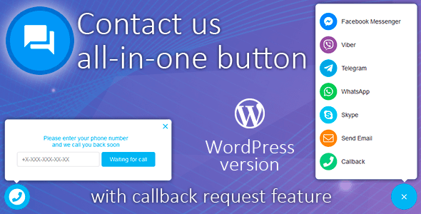Contact us all-in-one button with callback v1.9.7 - WordPress Plugin