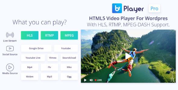 bzplayer Pro v1.9 – Live Streaming Player Plugin