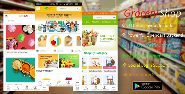 Android Ecommerce - GroceryShop App