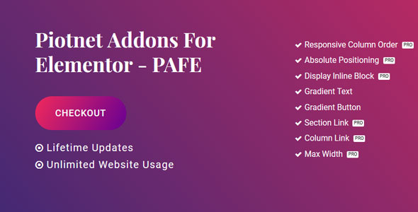 Piotnet Addons Pro For Elementor v3.5.0