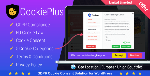Cookie Plus v1.2.7 – GDPR Cookie Consent Solution