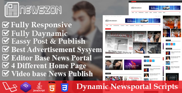 News Paper - Dynamic News, Magazine and Blog Portal Script