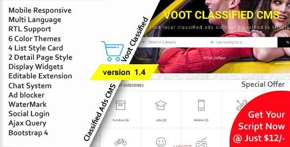 Voot Classified v1.4 – Classified Ads CMS