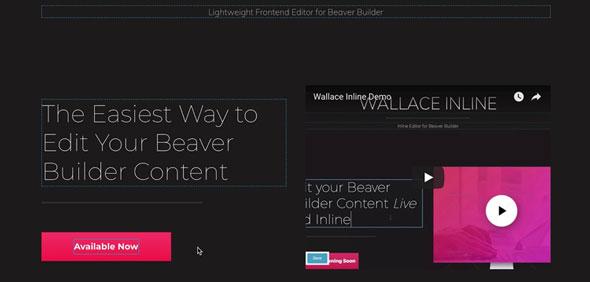 Wallace Inline v2.0.0 - Front-end editor for Beaver Builder