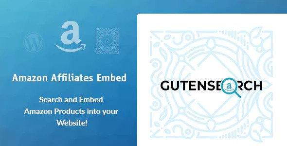GutenSearch v1.0.1 – Amazon Affiliates Search and Embed