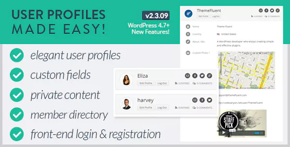 User Profiles Made Easy v2.3.09 – WordPress Plugin