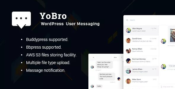 YoBro v2.0 - WordPress Private Messaging Plugin