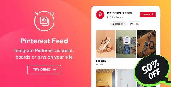 Pinterest Feed v1.0.1 - WordPress Pinterest Feed plugin