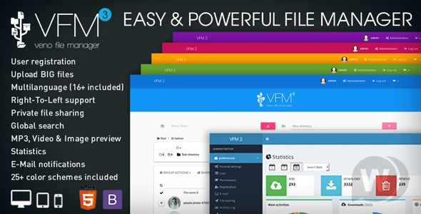 Veno File Manager v3.4.7 – host and share files