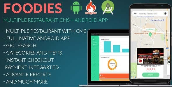 Foodies v1.2 - Multiple Restaurant Management System CMS