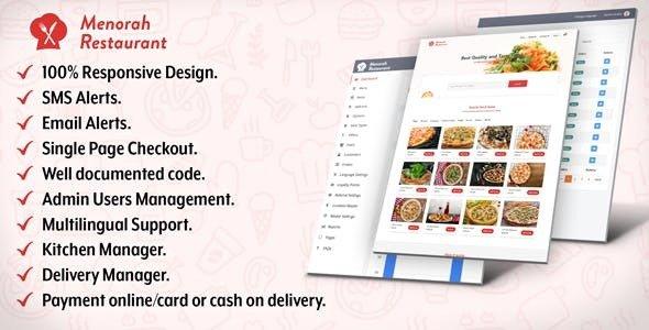 Menorah Restaurant v1.0 – Restaurant Food Ordering System
