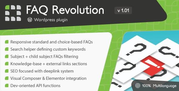 FAQ Revolution v1.01 – WordPress Plugin
