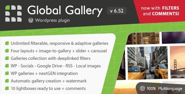 Global Gallery v6.611 – WordPress Responsive Gallery