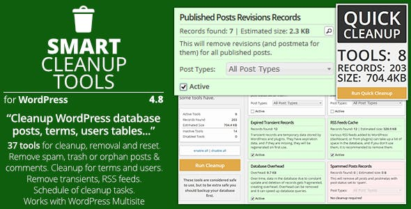 Smart Cleanup Tools v5.0 - Plugin for WordPress
