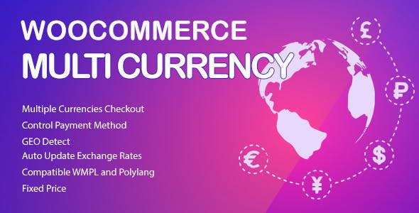 WooCommerce Multi Currency v2.1.6.5 - Currency Switcher
