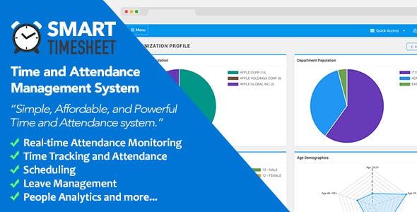 Smart Timesheet v3.7 – Time and Attendance Management System