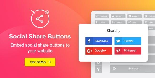 Social Media Share Buttons for WordPress v1.6.0