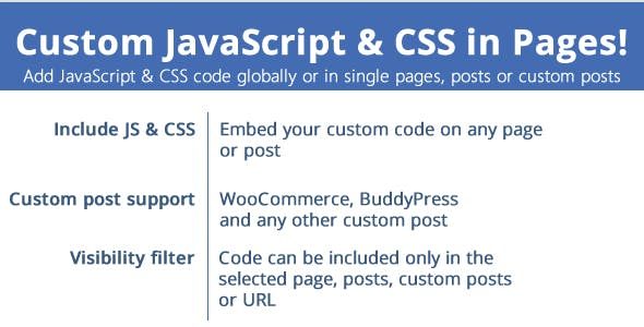 Custom JavaScript & CSS in Pages v2.9